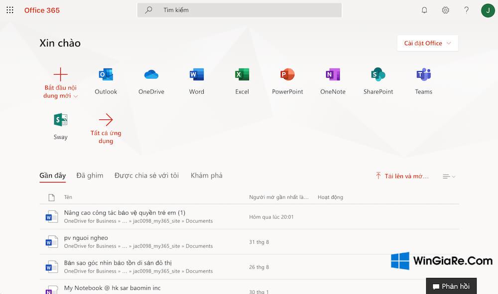 Hướng dẫn sử dụng Office 365 toàn tập từ a-z mới 2019 4