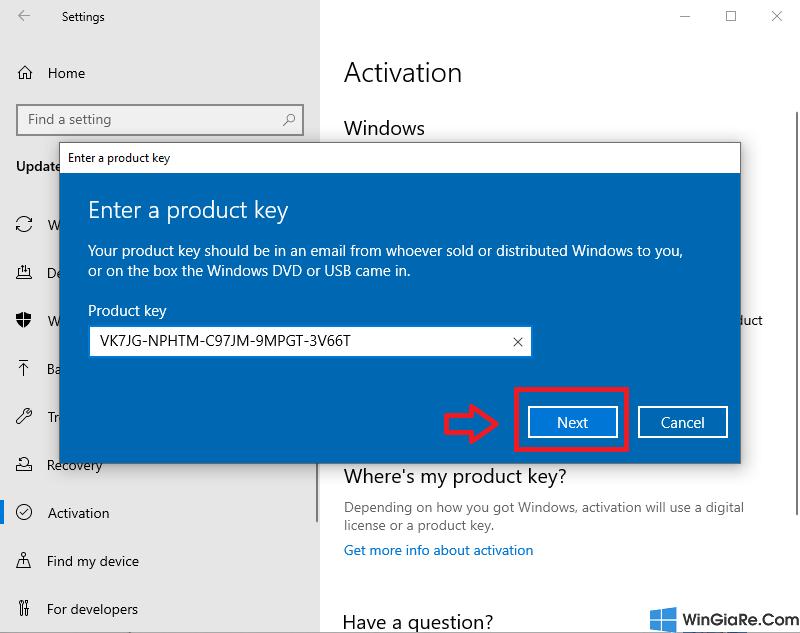 Dùng Key nâng cấp Windows 10 Home lên Win 10 Pro đơn giản 5
